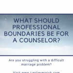 What Should Professional Boundaries Be for a Counselor?